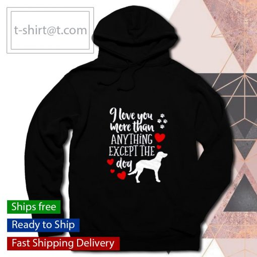 I Love You More Than Anything Except The Dog Valentines Day s hoodie