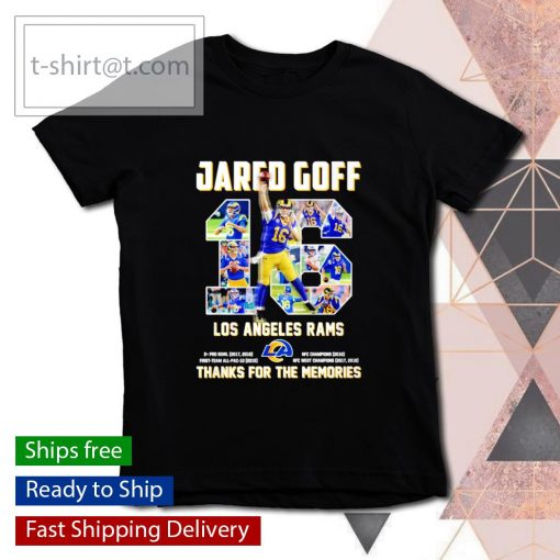 Jared Goff 16 Los Angeles Rams thanks for the memories s youth-tee