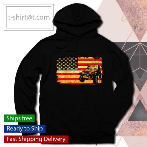 Jeep American Flag vintage s hoodie