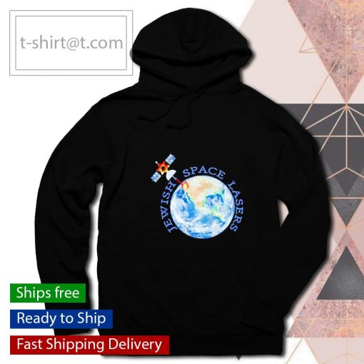 Jewish space lasers parody star of David satellite vintage s hoodie