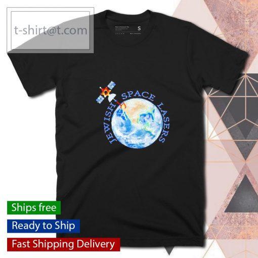Jewish space lasers parody star of David satellite vintage shirt