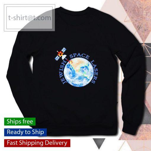 Jewish space lasers parody star of David satellite vintage s sweater