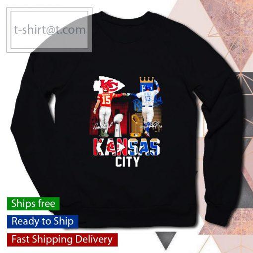 Kansas City Patrick Mahomes Salvador Perez signatures s sweater
