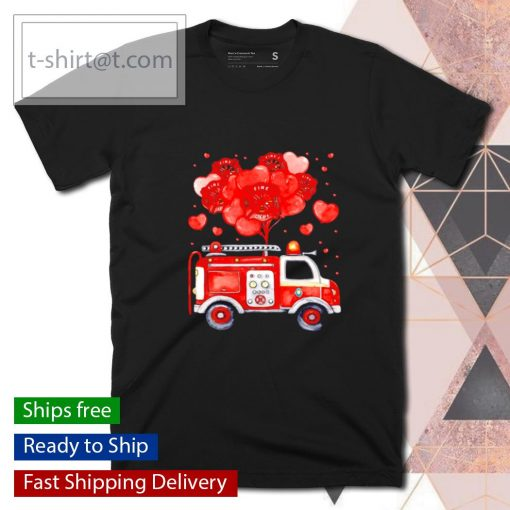 Loads Of Love Firetruck Valentine Day shirt