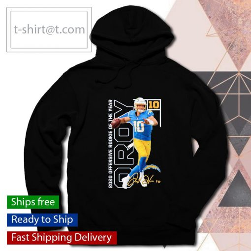 Los Angeles Chargers Justin Herbert 2020 NFL Offensive Rookie of the Year s hoodie