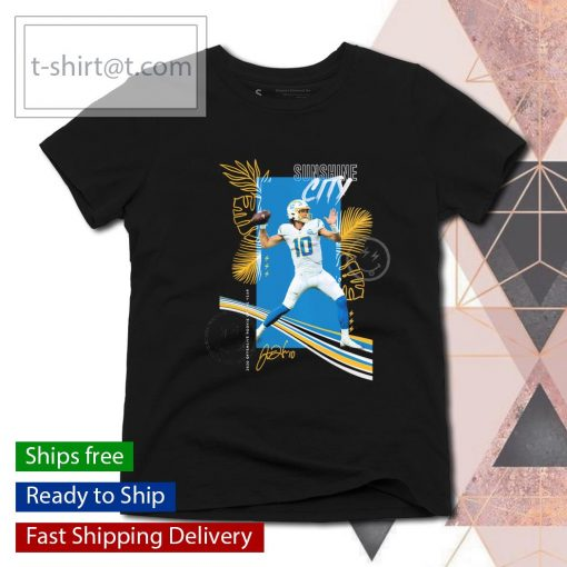 Los Angeles Chargers Justin Herbert 2020 NFL Offensive Rookie of the Year Sunshine City signature s ladies-tee
