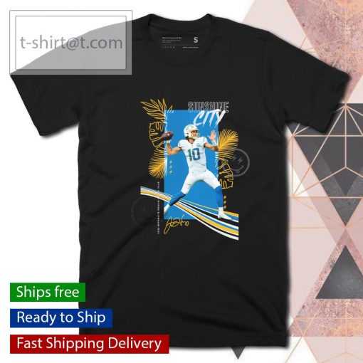 Los Angeles Chargers Justin Herbert 2020 NFL Offensive Rookie of the Year Sunshine City signature shirt