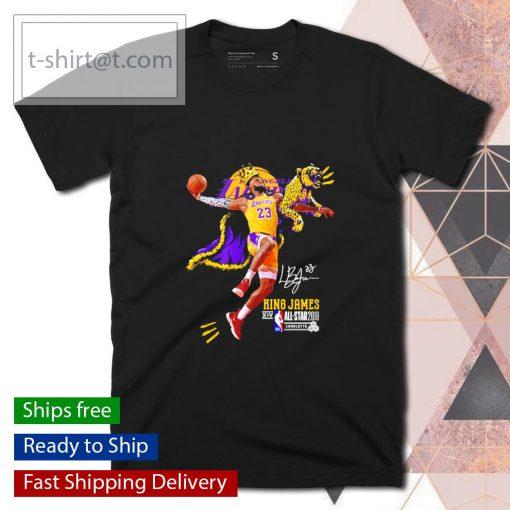 Los Angeles Lakers 23 King James All Star 2019 signature shirt