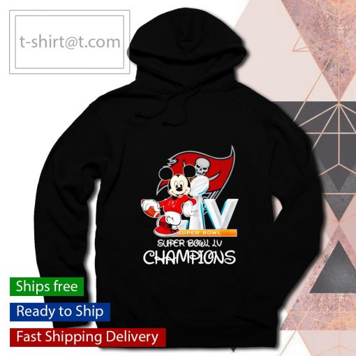 Mickey mouse Tampa Bay Buccaneers Super Bowl LV Champions s hoodie
