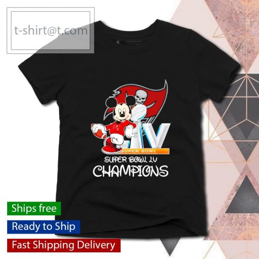 Mickey mouse Tampa Bay Buccaneers Super Bowl LV Champions s ladies-tee