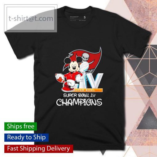 Mickey mouse Tampa Bay Buccaneers Super Bowl LV Champions shirt