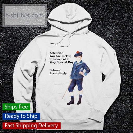 Sailor boy attention you are in the presence of a very special boy behave accordingly s hoodie