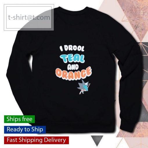 San Jose Sharks I drool teal and orange s sweater