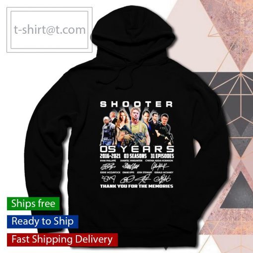 Shooter 05 years 2016 2021 thank you for the memories s hoodie