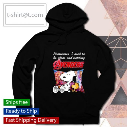 Snoopy sometimes I need to be alone and watching Avengers s hoodie
