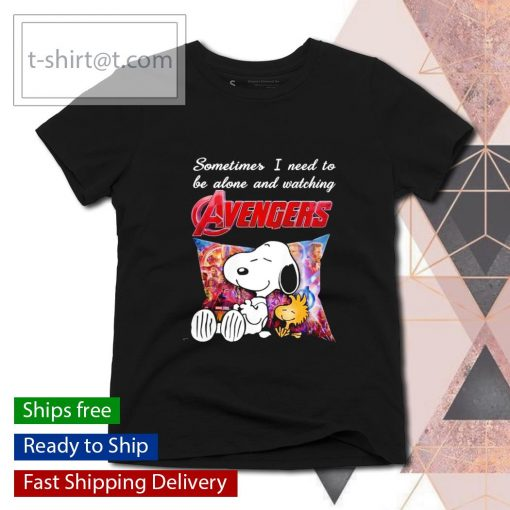 Snoopy sometimes I need to be alone and watching Avengers s ladies-tee