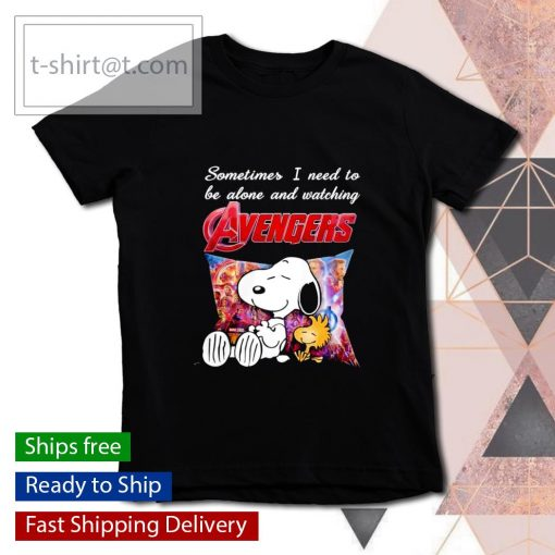 Snoopy sometimes I need to be alone and watching Avengers s youth-tee