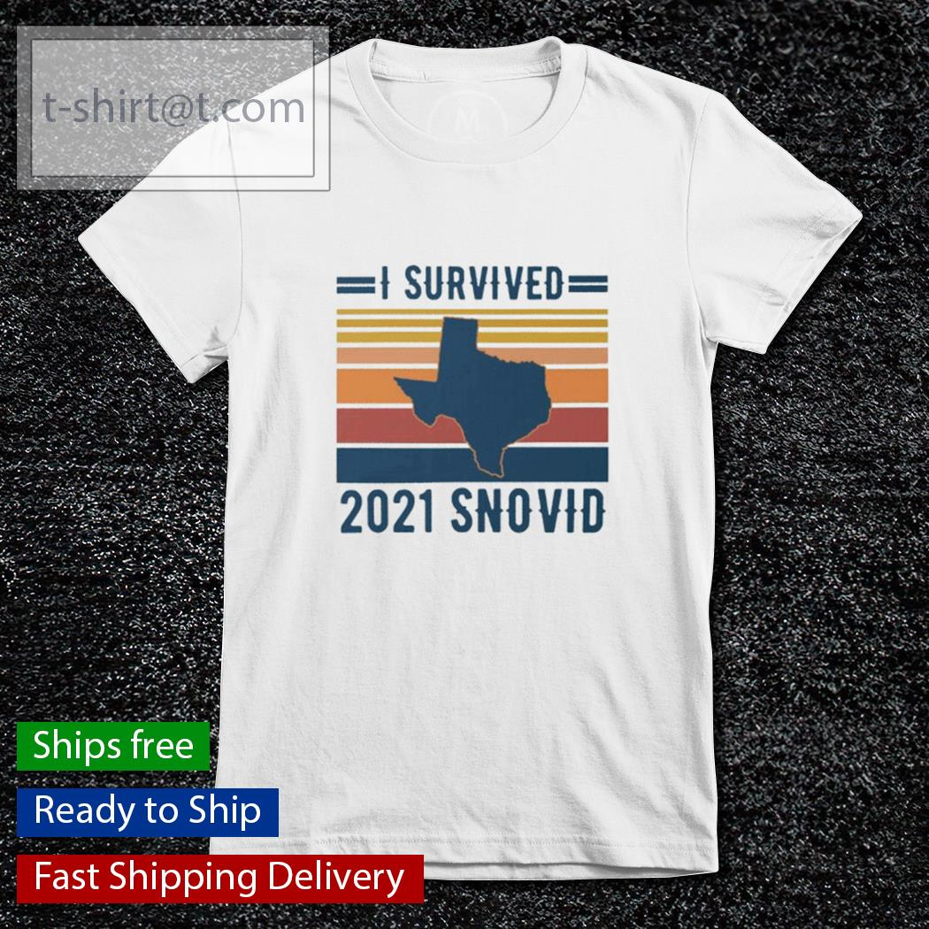 Snovid 2021 I survived 2021 snovid vintage s ladies-tee