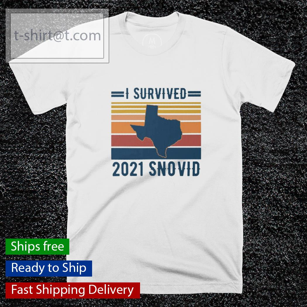Snovid 2021 I survived 2021 snovid vintage shirt