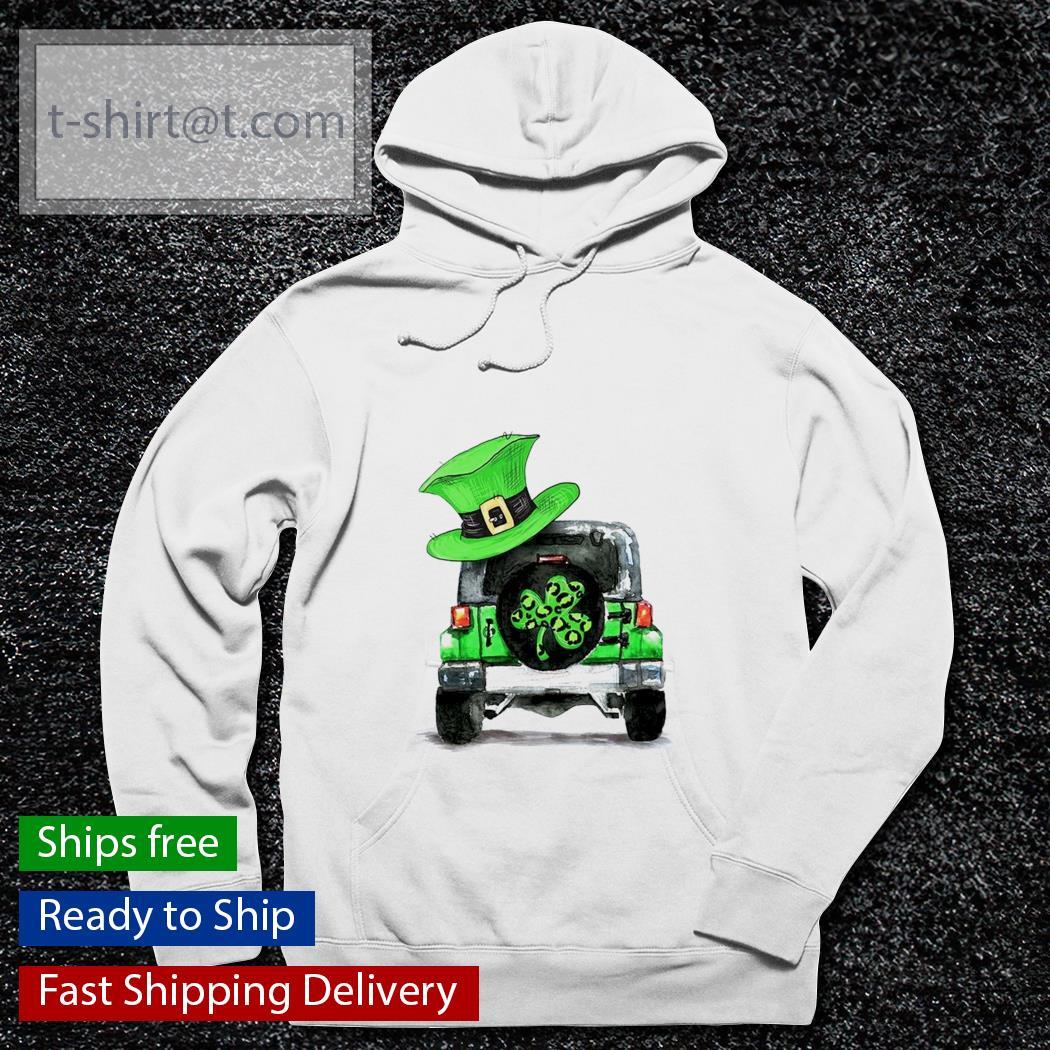 St Patrick's day Shamrock Jeep s hoodie
