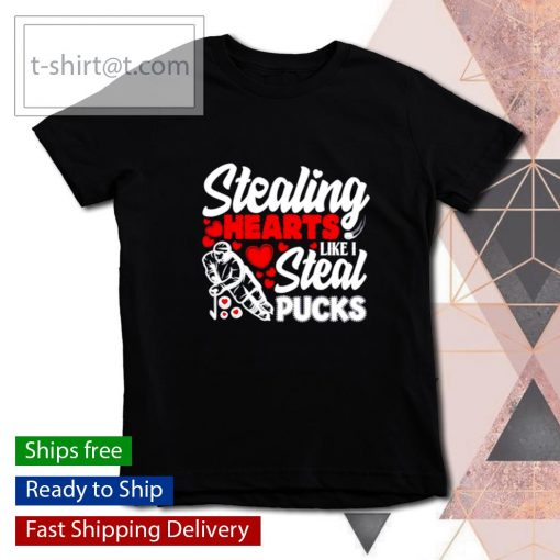 Stealing Heart Like I Steal Pucks Valentines Day Hockey s youth-tee