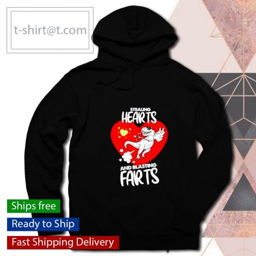 Stealing Hearts And Blasting Farts Valentine's day s hoodie