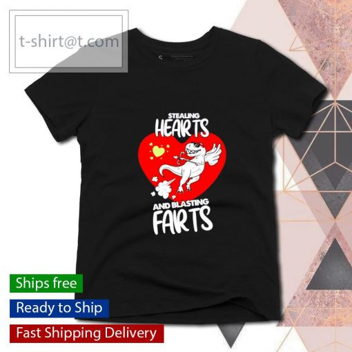 Stealing Hearts And Blasting Farts Valentine's day s ladies-tee