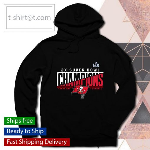 Tampa Bay Buccaneers 2-Time Super Bowl Champions Hash Mark Synthetic s hoodie