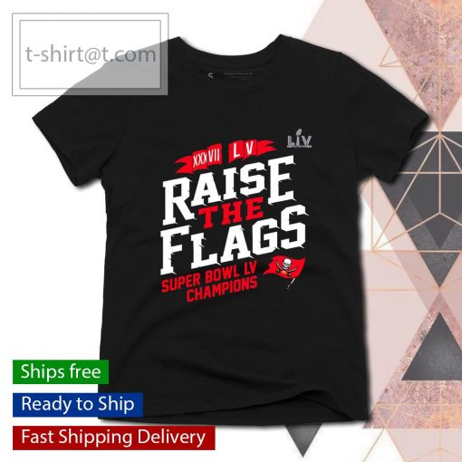 Tampa Bay Buccaneers 2-Time Super Bowl Champions Raise the Flags s ladies-tee