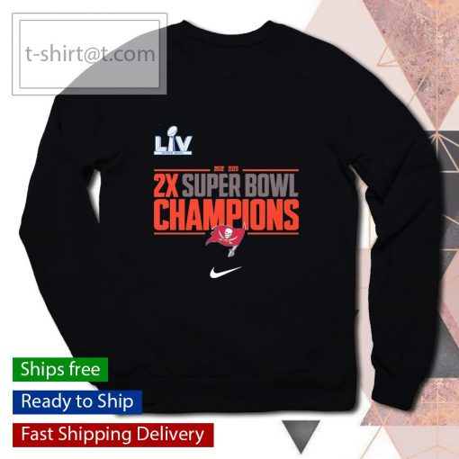 Tampa Bay Buccaneers Nike 2-Time Super Bowl Champions Field Goal s sweater