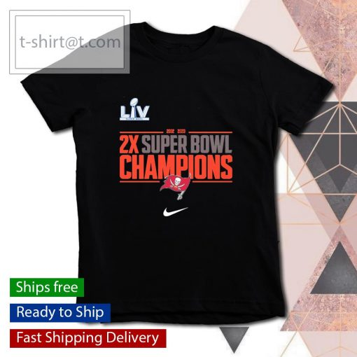 Tampa Bay Buccaneers Nike 2-Time Super Bowl Champions Field Goal s youth-tee