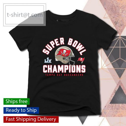 Tampa Bay Buccaneers Super Bowl LV Champions Big and Tall Lateral Pass s ladies-tee