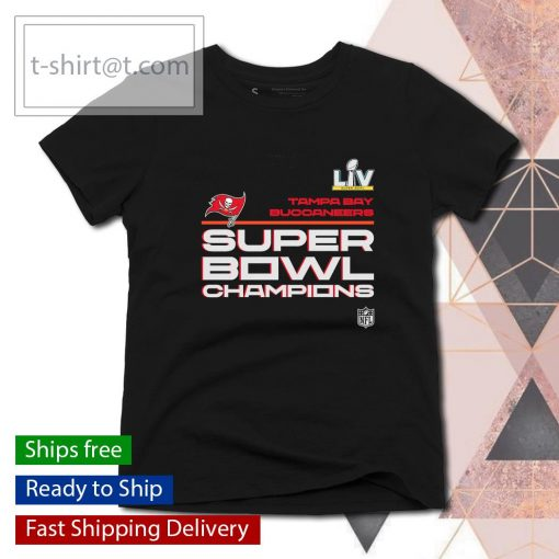 Tampa Bay Buccaneers Super Bowl LV Champions Locker Room Trophy Collection s ladies-tee