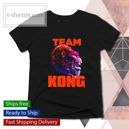 Team Kong Neon Godzilla vs Kong s ladies-tee