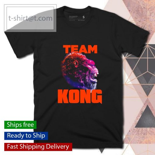 Team Kong Neon Godzilla vs Kong shirt