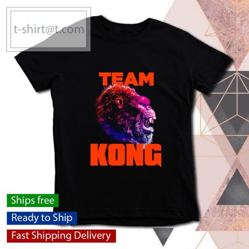 Team Kong Neon Godzilla vs Kong s youth-tee