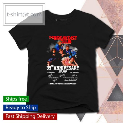 The Breakfast Club 35th anniversary 1985 2020 thank you for the memories s ladies-tee