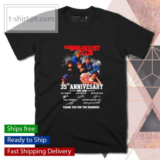 The Breakfast Club 35th anniversary 1985 2020 thank you for the memories shirt