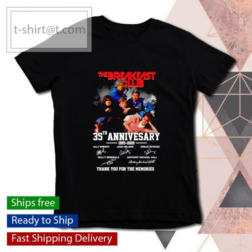 The Breakfast Club 35th anniversary 1985 2020 thank you for the memories s youth-tee