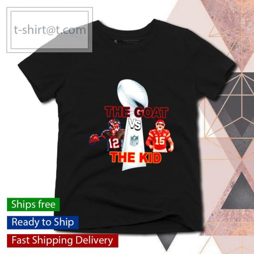 The Goat The Kid Brady vs Mahomes with NFL Champions s ladies-tee
