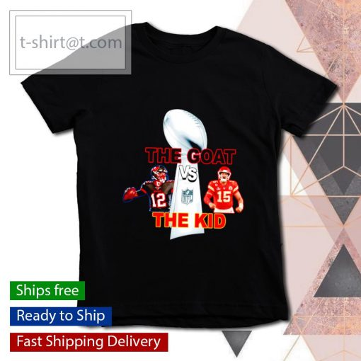 The Goat The Kid Brady vs Mahomes with NFL Champions s youth-tee