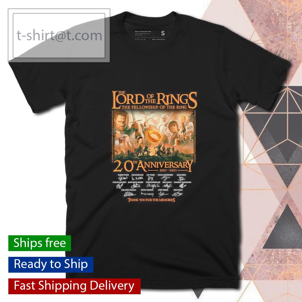 The Lord of the Rings the fellowship of the ring 20th anniversary thank you for the memories shirt