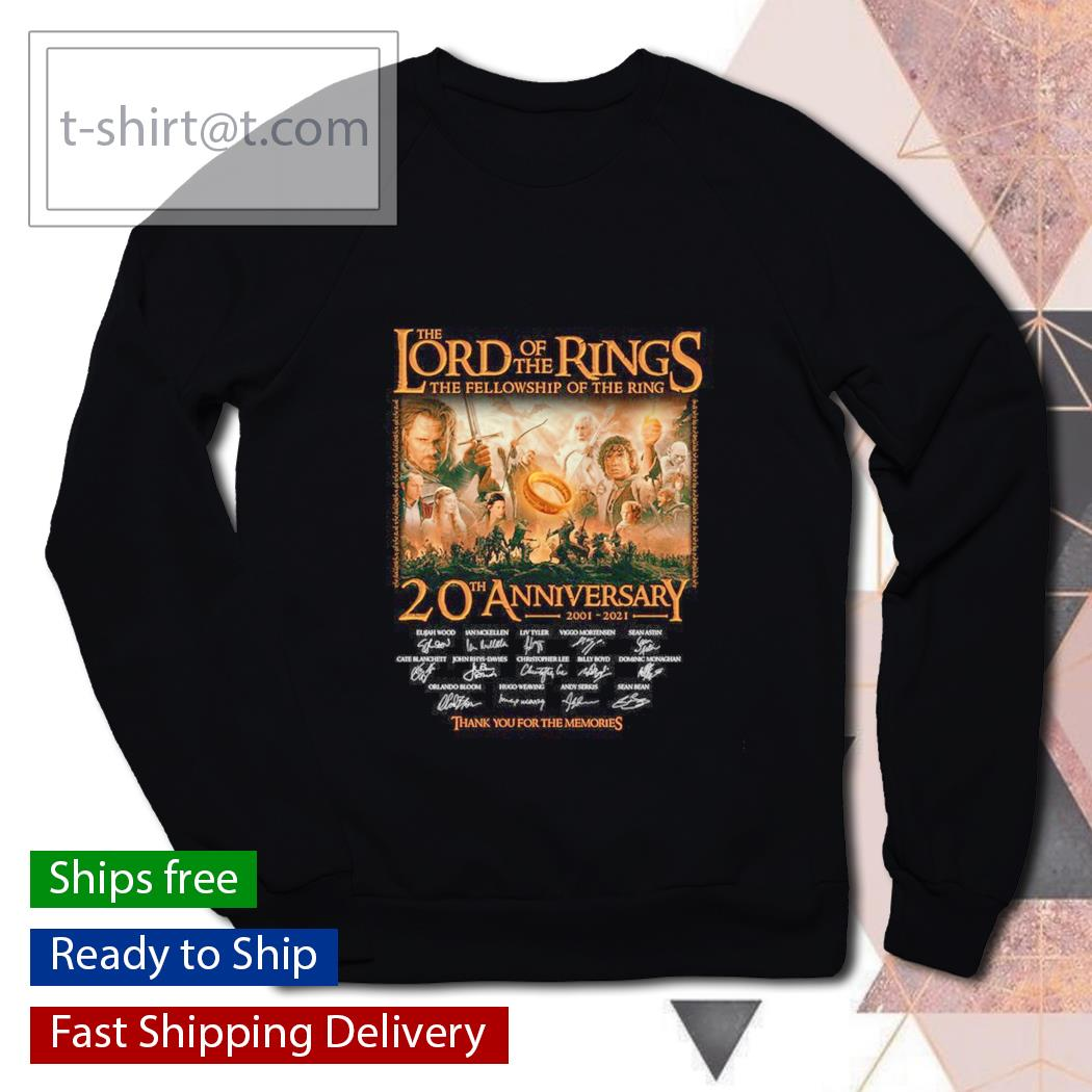 The Lord of the Rings the fellowship of the ring 20th anniversary thank you for the memories s sweater